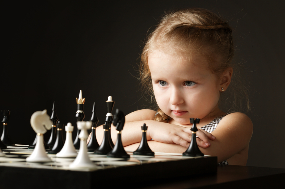 gifted child playing chess
